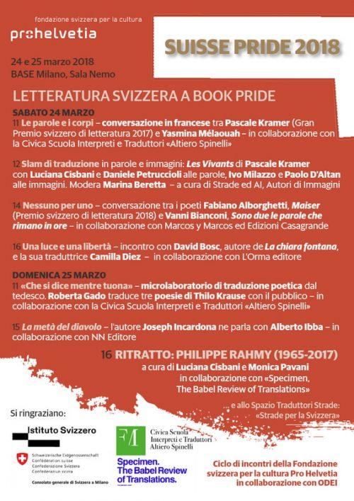 Volantino Suisse Pride 2018